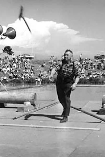 History of axe throwing: circa 1940s
