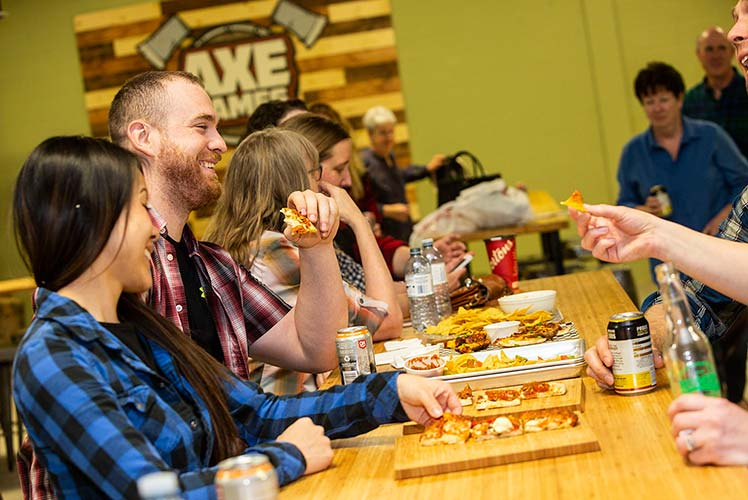 Enjoy food and drinks at Axe Games
