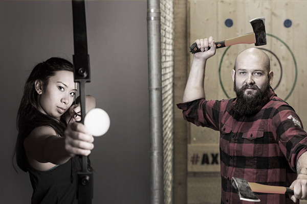 2 hour private axe throwing packages