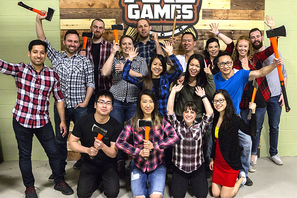 Axe Games Bachelorette Party Calgary - Bachelor Bachelorette Party Group Image